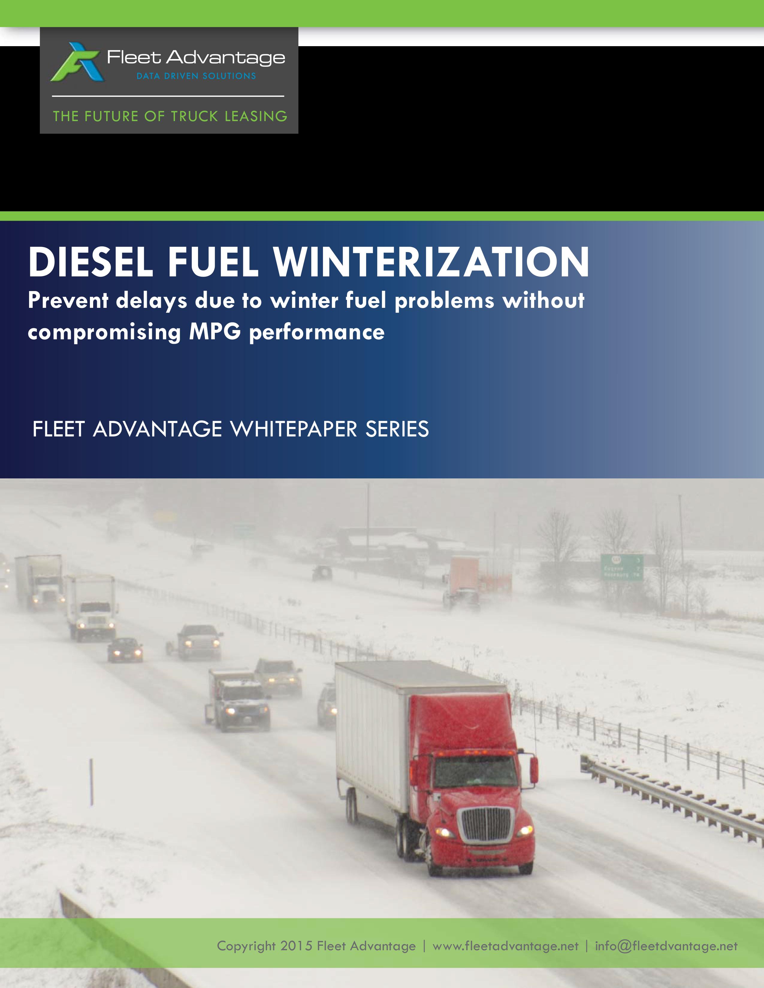 Diesel Fuel Winterization